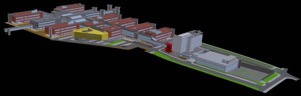3D model univerzitního kampusu v Brně - Bohunicích