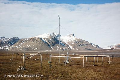 Meteorologická stanice na pobřeží Petuniabukty (Špicberky)